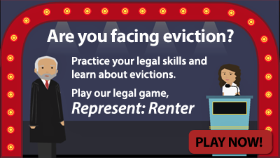 Screenshot of RePresent: Renter, a legal game about defending yourself in an eviction.